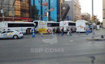 Campesinos provocan caos vial en Bucareli - Foto de @OVIALCDMX
