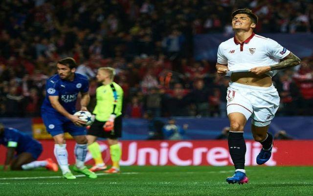 Sevilla saca mínima ventaja ante el Leicester City - Foto de @LigadeCampeones