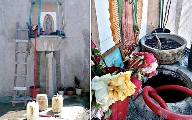 Descubren toma clandestina en altar a la Virgen de Guadalupe - Foto de Internet