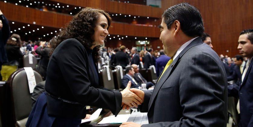 Padierna y Barbosa se declaran coordinadores del PRD en el Senado