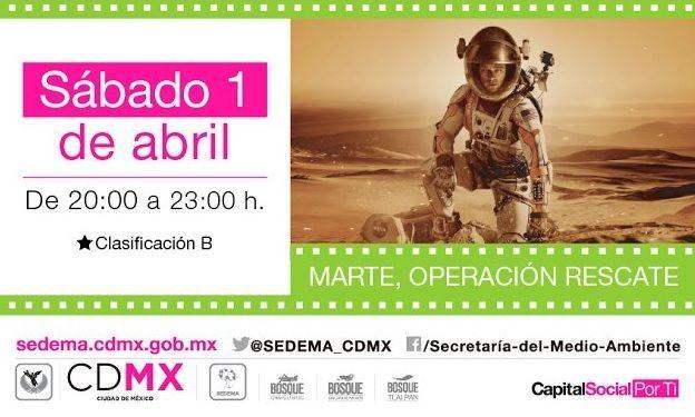 Ofrecerán cine al aire libre en bosques de la Ciudad de México - Foto de @SEDEMA_CDMX