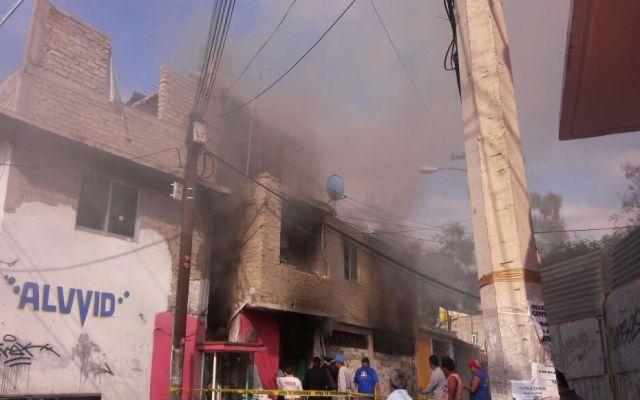 Flamazo incendia casa en Coyoacán - Foto de @coe_cdmx