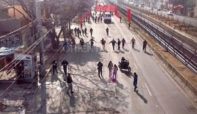 Manifestantes provocan caos vial en Ermita Iztapalapa - Foto de @OVIALCDMX