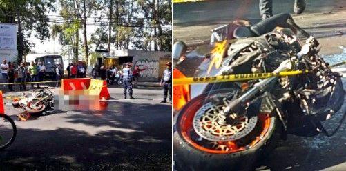 Muere motociclista al impactar contra microbús en Tasqueña - Foto de @JerrxG13