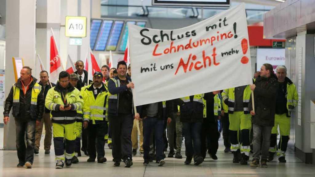 Paro por segundo día en aeropuertos de Berlín - Foto de Twitter