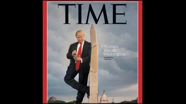 Trump aparece en portada de Time