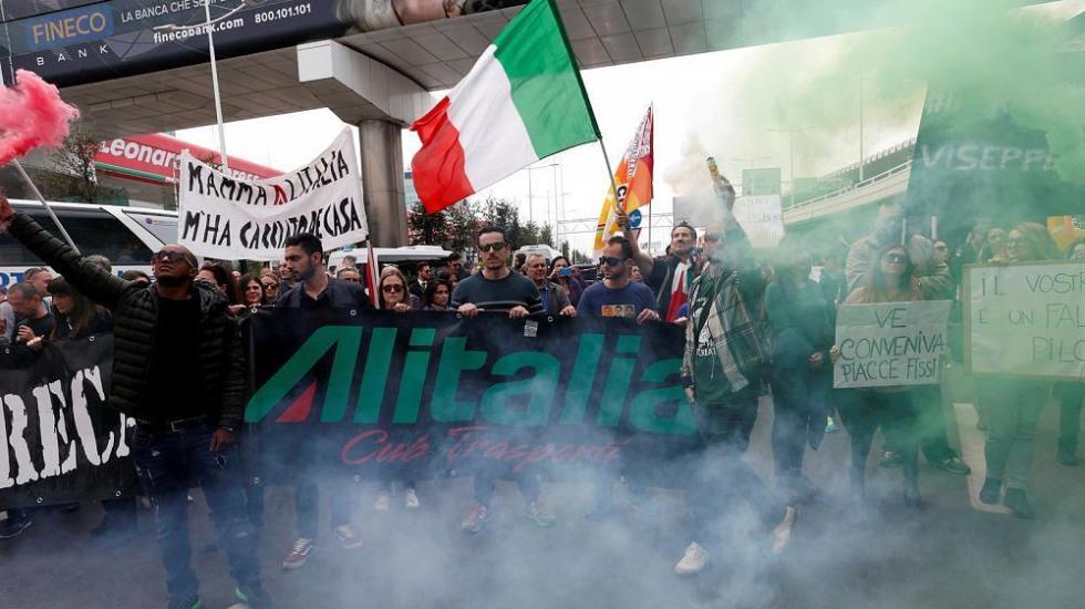 Cancelados el 60 por ciento de vuelos de Alitalia por huelga