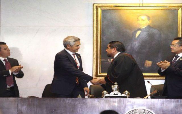 Álvaro Augusto Pérez toma protesta como presidente del TSJ de la CDMX - Foto de @TSJDF