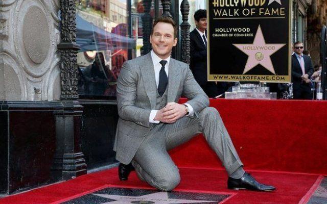 Chris Pratt recibe estrella en el Paseo de la Fama de Hollywood