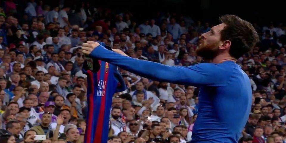 Barcelona se impone en el último minuto del clásico español - Foto de Twitter