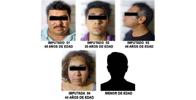 Detienen a cinco presuntos narcomenudistas en la colonia Guerrero - Foto de PGJ