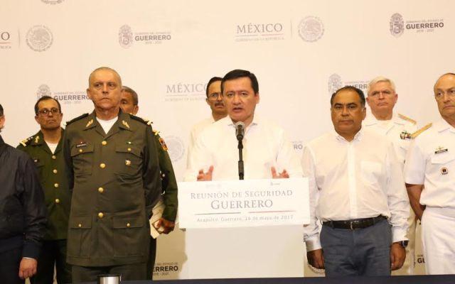 Federación respalda acciones de seguridad implementadas por Héctor Astudillo