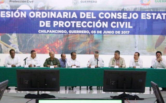 Héctor Astudillo encabeza sesión ordinaria del Consejo Estatal de Protección Civil