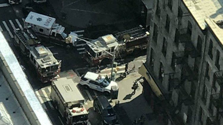 Fuga de gas en Nueva York deja 32 personas intoxicadas - Foto de Twitter