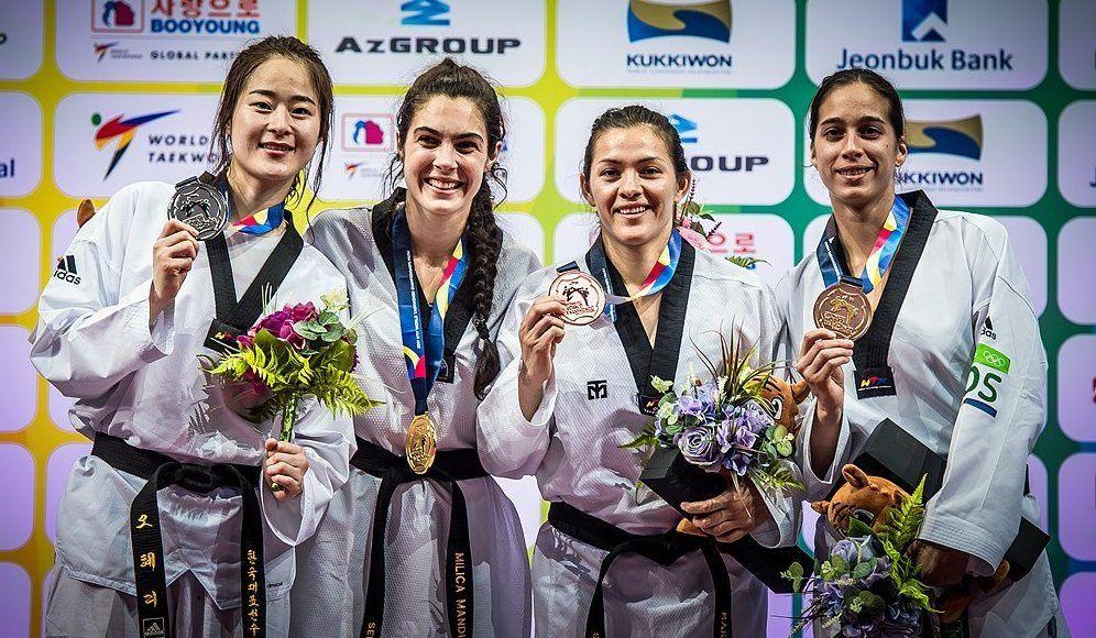 María Espinoza gana bronce en Mundial de Taekwondo - Foto de @COM_Mexico
