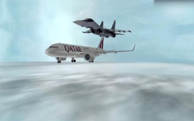 #Video Arabia Saudita amenaza con derribar aviones civiles de Catar - Captura de pantalla