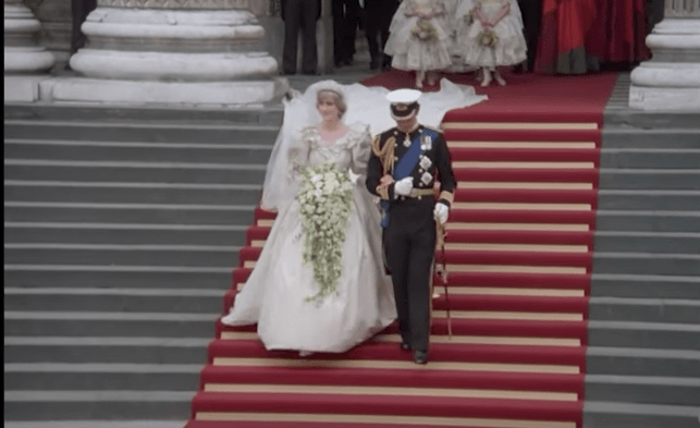 Restauran video de la boda de Lady Di