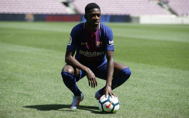 Barcelona presenta a Dembélé en el Camp Nou