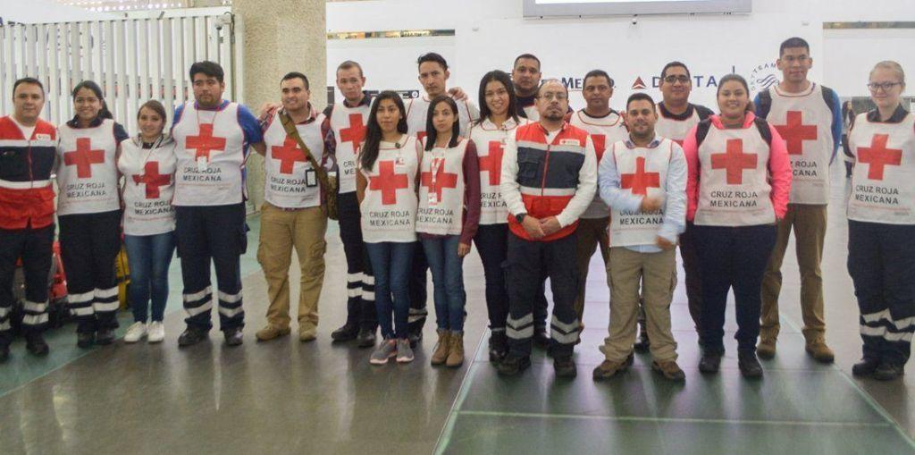 Cruz Roja Mexicana envía voluntarios a Texas