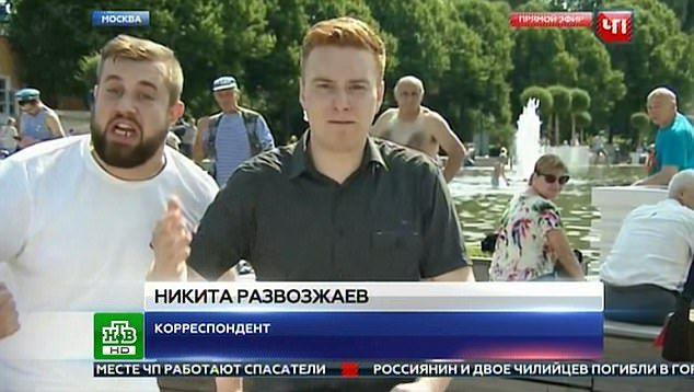 #Video Golpean a periodista ruso en transmisión