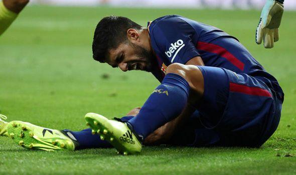 Luis Suárez fuera de cuatro a cinco semanas por lesión - Foto de REUTERS
