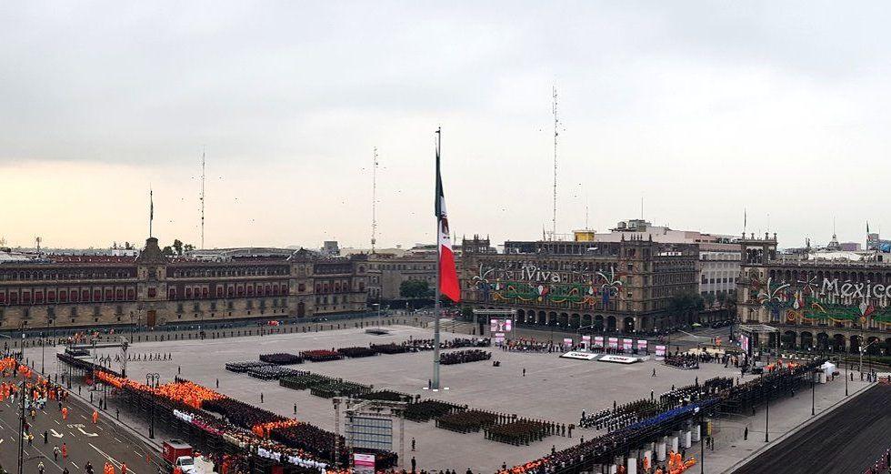 Cierran calles del Centro Histórico por inauguración del Zócalo - Foto de @EdgarTungui