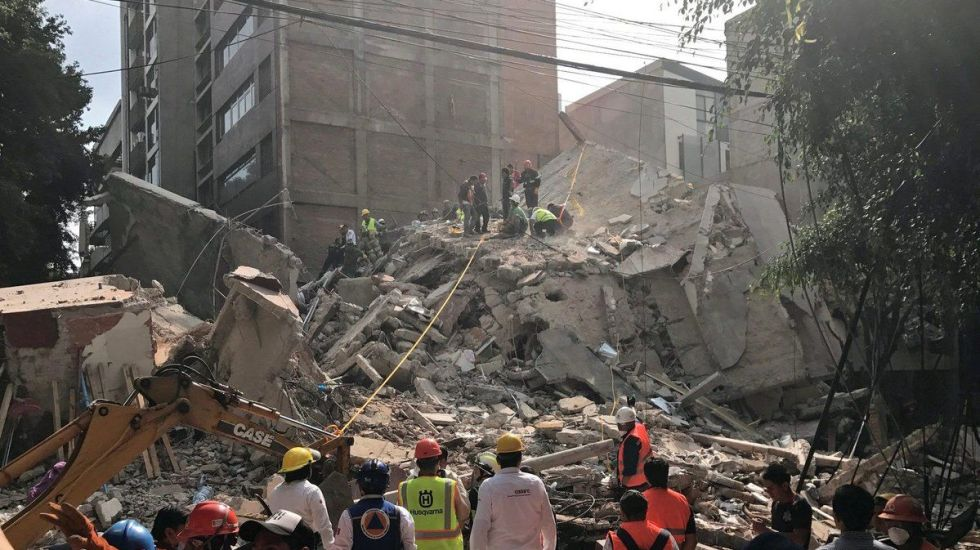 Contabilizan 34 réplicas del sismo magnitud 7.1 - Foto de @CH_Mexico