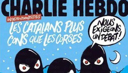 Charlie Hebdo se burla de crisis en Cataluña
