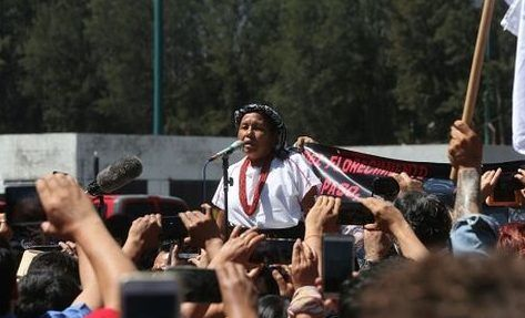 Mujer indígena se registra como independiente por la Presidencia - Foto de Milenio