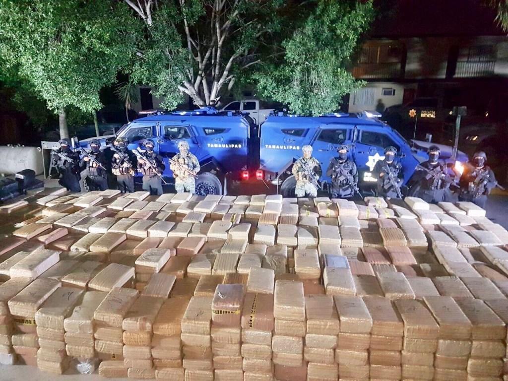 Decomisan cinco toneladas de mariguana en Tamaulipas