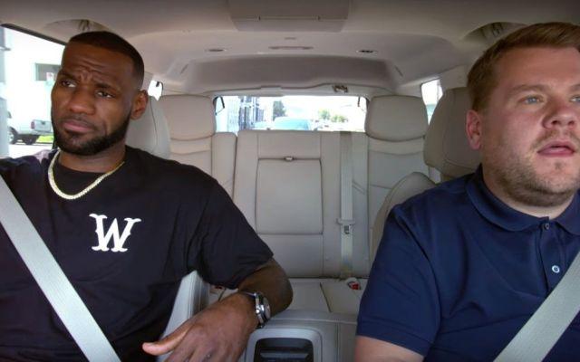 Ice Cube canta en 'Carpool Karaoke' junto a Lebron James y James Corden