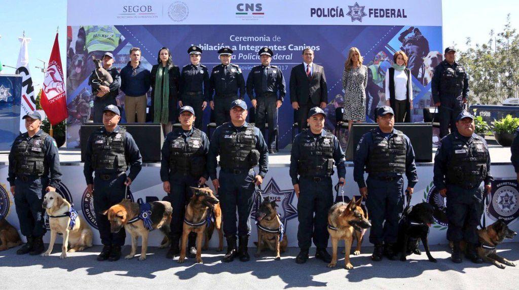 Policía Federal jubila a 14 oficiales caninos - Foto de PF