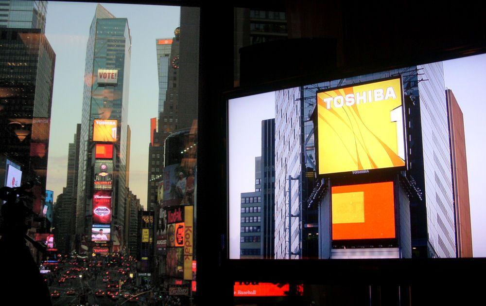 Toshiba retirará logo de Times Square por austeridad - Foto de internet
