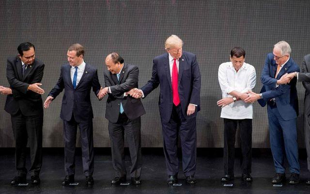 El protocolo para Trump durante su visita a Asia - Foto de Al Jazeera