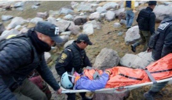 Rescatan a mujer lesionada en el Nevado de Toluca - Foto de Internet