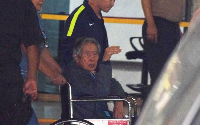 Alberto Fujimori abandona clínica tras recibir indulto de Kuczynski - Foto de Twitter