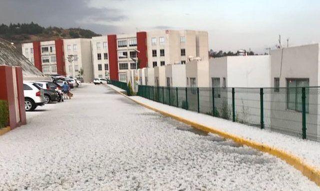 Cae granizo en varios puntos del Estado de México - Foto de Conagua