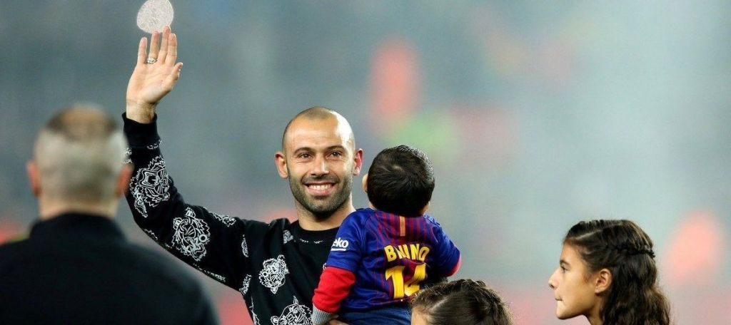 Emotivo homenaje a Javier Mascherano en el Camp Nou - Foto: Reuters.