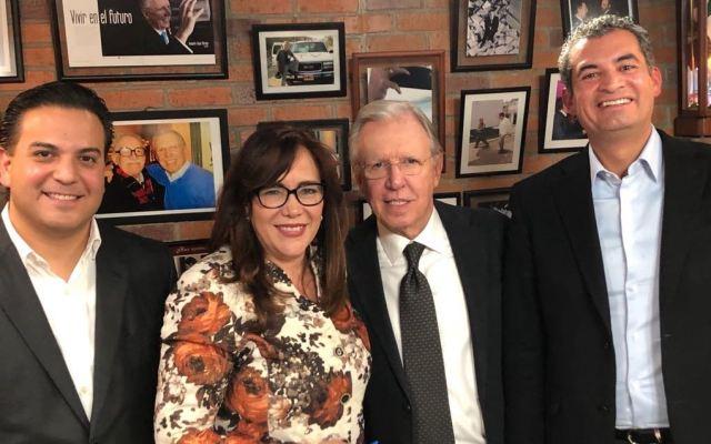 Ochoa, Polevnsky y Zepeda en la Mesa Política con López-Dóriga