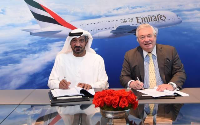 Emirates encarga 20 aviones A380 a Airbus por 16 mil mdd - Foto de EFE