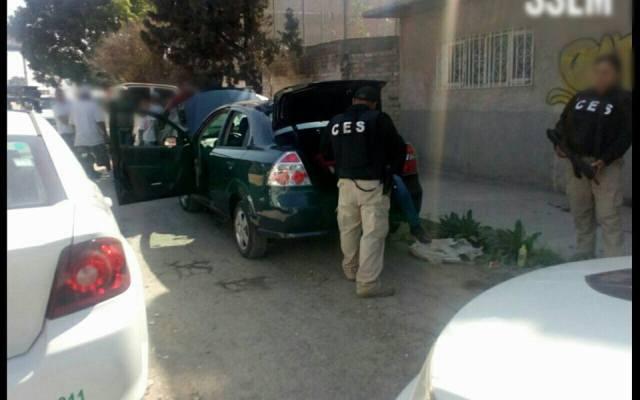 Liberan en Ecatepec a persona secuestrada y puesta en cajuela - Foto: SSEM.