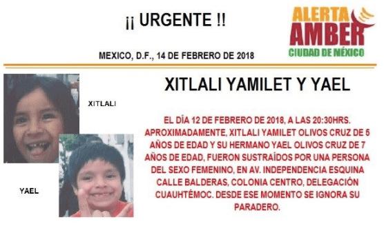 Activan alerta amber por desaparición de hermanos en la Cuauhtémoc
