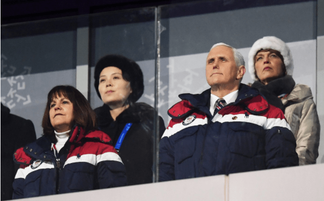 Pence ignoró a hermana de Kim Jong-un en inauguración de JJ.OO. - Foto de Internet
