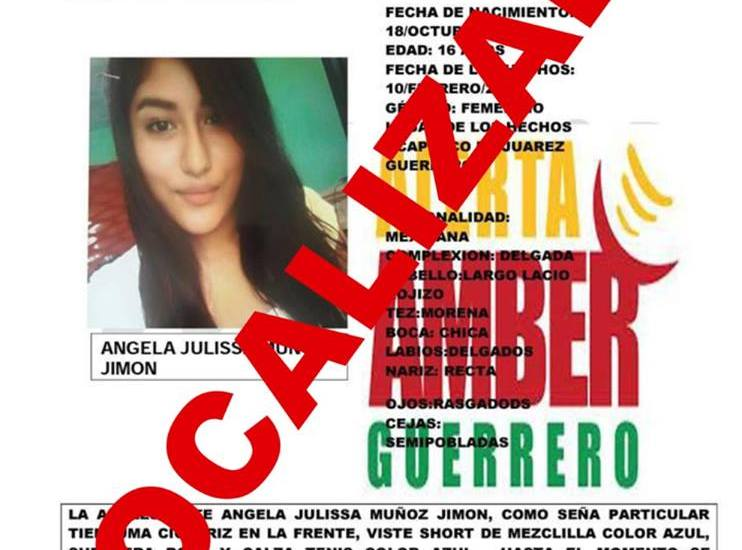 Fiscalía de Guerrero localizó a cinco niñas en enero - Foto de FGE Guerrero