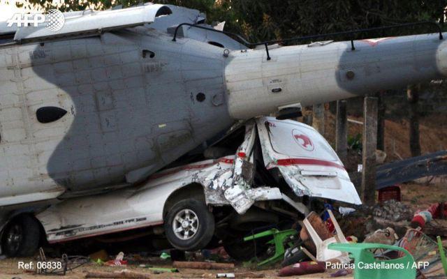 Difícil y sorpresivo despejar área donde cayó helicóptero de la Sedena: alcalde