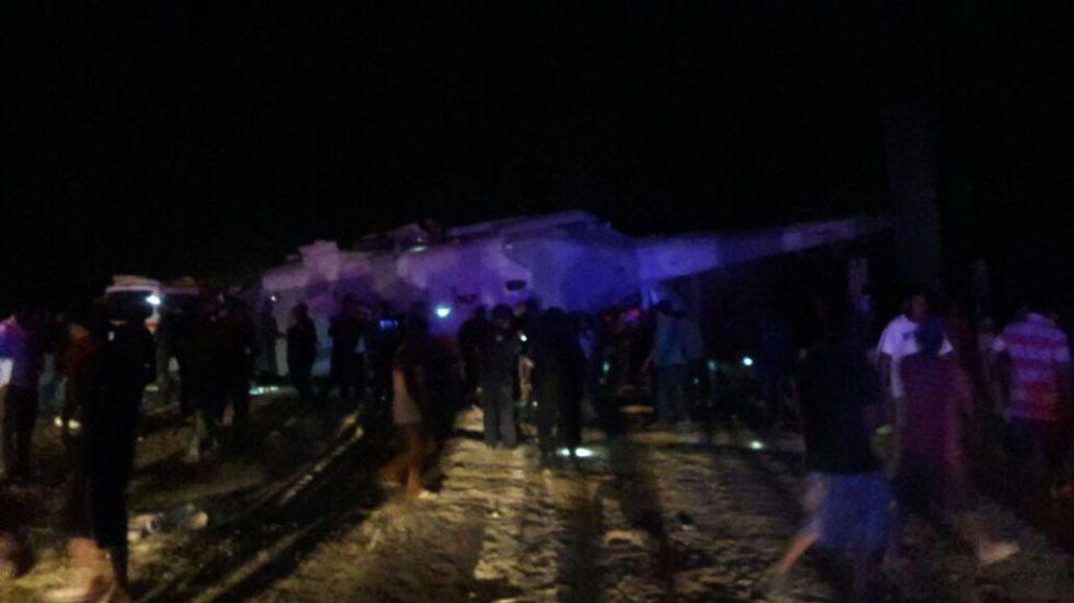Navarrete Prida y Murat ilesos tras desplomarse su helicóptero - Foto de @osdtagle