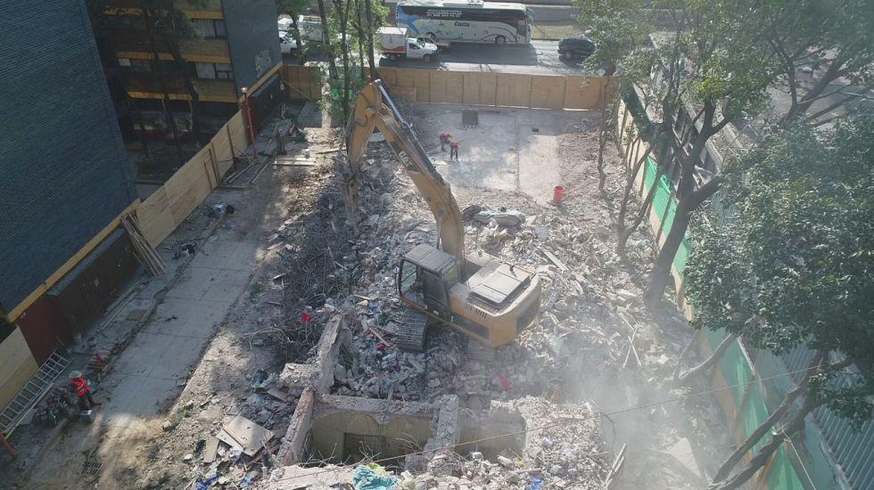 Concluye demolición del edificio 1C del Multifamiliar Tlalpan - Foto: Secretaría de Obras y Servicios de la Ciudad de México.