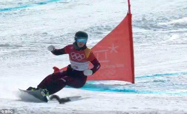 #Video Ardilla esquiva a esquiadora en PyeongChang - Foto de BBC