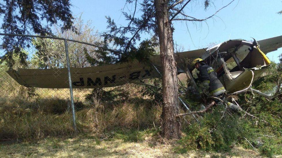 Accidente en aeródromo de Atizapán