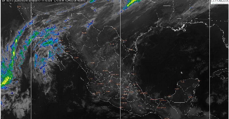 Lloviznas en CDMX; calor en Sinaloa, Nayarit, Guerrero y Chiapas